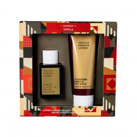 Korres set Vanilla/Freesia/Lychee Eau De Toilette 50ml & Body Milk 125ml