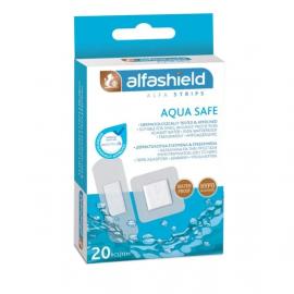 Alfashield Strips Aqua Safe Αδιάβροχα Επιθέματα Μικροταυμάτων 2 Μεγέθη 20τμχ