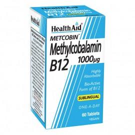 HealthAid Metcobin Methylcobalamin B12 1000mg 60Tabs