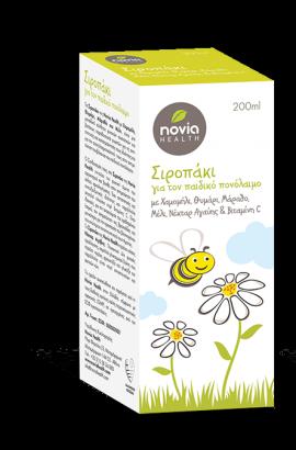 Novia Health Σιροπάκι για τον Παιδικό Πονόλαιμο 200ml