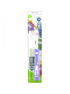 Gum 901 Kids Monsters Μωβ Παιδική Οδοντόβουρτσα 3-6 Ετών 1τμχ.