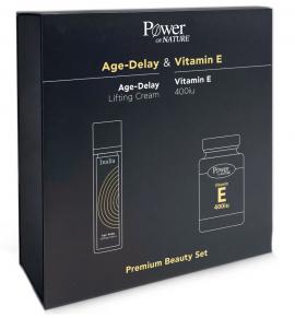 Power Health Set Age-Delay Lifting Cream 50ml + Δώρο Vitamin E 400iu 30caps