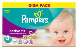 PAMPERS GIGA PACK ACTIVE FIT Midi No3 (4-9kg) 123τμχ