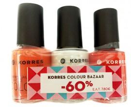 Korres Bazaar Nail Colours (42,01,44) 3x10ml