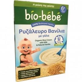 Bio-Bebe Ρυζάλευρο Βανίλια με Γάλα 6m+ Βιολογικής Καλλιέργειας 200gr 1+1 Δώρο
