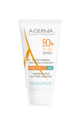 ADERMA PROTECT AC Fluide matifiant visage SPF50+ 40ml