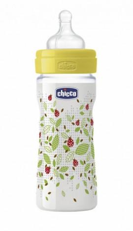 CHICCO WELL BEING Πλαστικό Μπιμπερό ΘΣ Μέτρια Ροή 2m+ 250ml