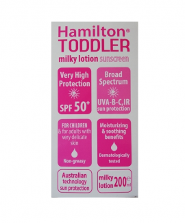 Hamilton Toddler SPF50+ Kids Sunscreen Milky Lotion 200ml