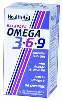 HEALTH AID Ω3 - 6 - 9 (1155MG) CAPSULES 90S