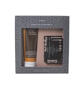 Korres Set Σαπούνι Καθαρισμού Προσώπου και Σώματος Θαλάσσια Λάσπη 150gr & Korres After Shave Balm Mountain Pepper/Bergamot/Coriander 125ml