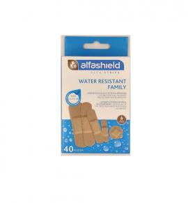 Alfashield Water Resistant Family Αδιάβροχα Αυτοκόλλητα Επιθέματα (5 Μεγέθη) 40τμχ