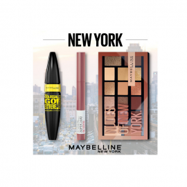 Maybelline Set Maybelline Nudes of New York Eyeshadow Palette 18gr + Maybelline Superstay Ink Crayon 15 Lead the Way + Maybelline The Colossal Go Extreme Volum Express Mascara  Leather Black 9,5ml