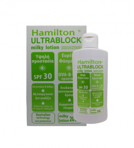 Hamilton Ultrablock SPF30 Body Sunscreen Milky Lotion 200ml