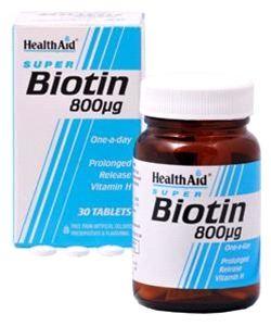 HEALTH AID BIOTIN 800ug TABLETS 30s
