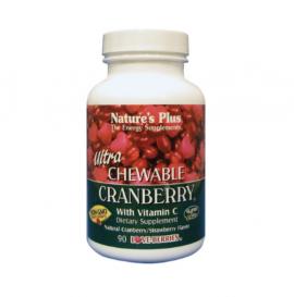 Natures Plus Ultra Chewable Cranberry 90 Μασώμενες Ταμπλέτες με Γεύση Φράουλα