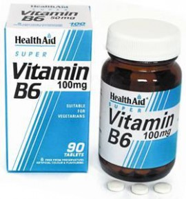 HEALTH AID VITAMIN B6 (PYRIDOXINE HCl) 100mg PROLONGED RELEASE TABLETS 90s