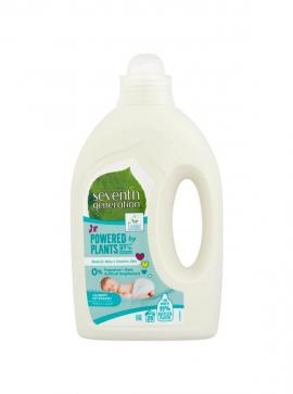 Seventh Generation Powered By Plants Baby Υγρό Απορρυπαντικό Πλυντηρίου Free & Clear 1000ml