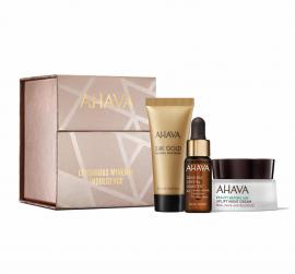 Ahava Set 24K Gold Mineral Mud Mask 15ml + Dead Sea Crystal Osmoter X6 Facial Serum 5ml + Beauty Before Age Uplift Night Cream 15ml