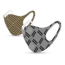 Tili Μάσκες Προσώπου Πολλαπλών Χρήσεων Ενηλίκων Ζευγάρι με 3D Σχέδια 2τμχ