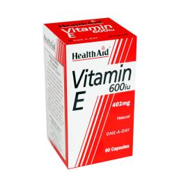 HEALTH AID VITAMIN E 600IU NATURAL CAPSULES 60S