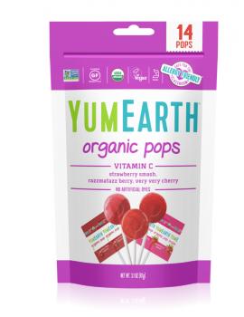 Yumearth Organic Pops Vitamin C Βιολογικά Γλειφιτζούρια Φρούτων με Βιταμίνη C 14τμχ