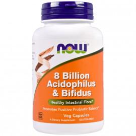Now Foods 8 Billion Acidophilus & Bifidus 60 Veget.caps