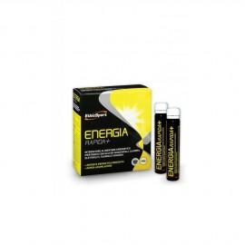 EthicSport Energia Rapida + Συμπλήρωμα Διατροφή με Υδατάνθρακες, Αλανίνη, Ηλεκτρολύτες, Ταυρίνη και Τζίνσενγκ, 10 x 25ml Φιαλίδια