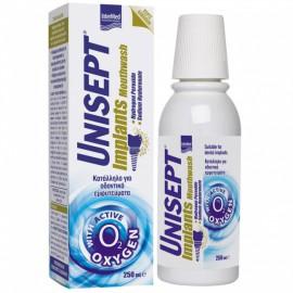 Unisept Implants Mouthwash Στοματικό Διάλυμα Χωρίς Αλκοόλη Κατάλληλο για Οδοντικά Εμφυτεύματα 250ml