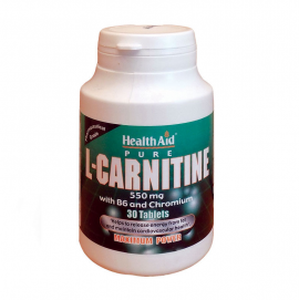 HEALTH AID L-CARNITINE 550mg TABLETS 30s