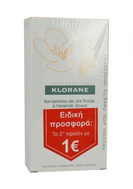 Klorane Cold Wax Small Strips with Sweet Almond PROMO ΤΟ 2ο ΠΡΟΪΟΝ 1€, 2 x 6 διπλές ταινίες