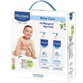Mustela Baby Care Set με Gentle Cleansing Gel Τζελ Καθαρισμού για Μαλλιά & Σώμα 500ml + Hydra-Bebe Body Lotion Ενυδατικό Γαλάκτωμα Σώματος 500ml + Δώρο το Αρκουδάκι Musti 1τμχ