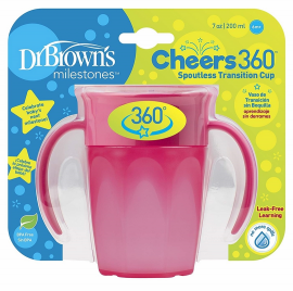 Dr. Browns Κύπελλο 360° με λαβές 200 ml κορίτσι