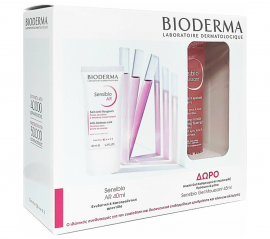 Bioderma Set Sensibio AR Kαταπραϋντική Κρέμα 40ml & Δώρο Sensibio Gel Moussant Απαλό Τζελ Καθαρισμού 45ml