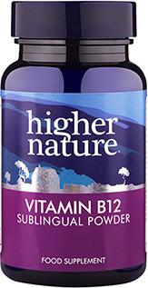 Higher Nature B12 Vitamin 200mcg Sublingual Powder 30gr