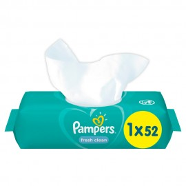 Pampers Fresh Clean Μωρομάντηλα 52τμχ
