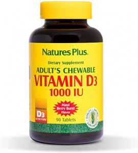 Natures Plus ADULTS CHEWABLE VIT. D3 1000 I.U., 90TABS