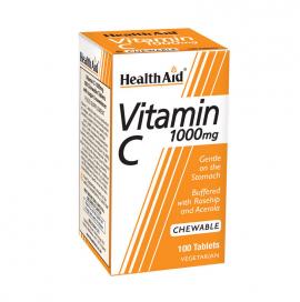Health Aid Vitamin C 1000mg with Rosehip & Acerola 100 Μασώμενες Ταμπλέτες