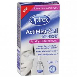 Optrex Actimist Σπρέι 2 σε 1 για Ξηρά & Ερεθισμένα Μάτια 10ml