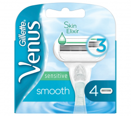 Gillette Venus Sensitive Extra Smooth Ανταλλακτικές Λεπίδες Γυναικείας Ξυριστικής Μηχανής 4τμχ