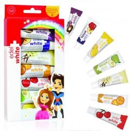 Edel + White EW-KH7 Παιδική Οδοντόκρεμα με 7 Γεύσεις 7Χ9,45ml