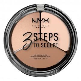 NYX PM 3 Steps To Sculpt Παλετα Highlighter 1 Fair 160gr