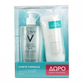 Vichy Set Purete Thermale Lotion Micellaire 3 in 1 400ml + Δώρο Δίσκοι Ντεμακιγιάζ