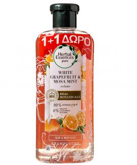 Herbal Essences White Grapefruit & Mosa Mint Shampoo για Πλούσιο Όγκο 400ml 1+1 Δώρο