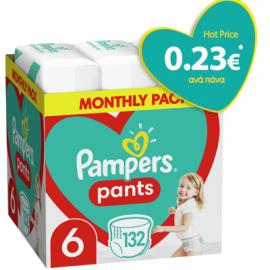 Pampers Pants No.6 (15+Kg) 132 Πάνες