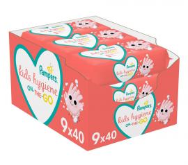 Pampers Kids Hygiene On-The-Go Μωρομάντηλα 360τμχ