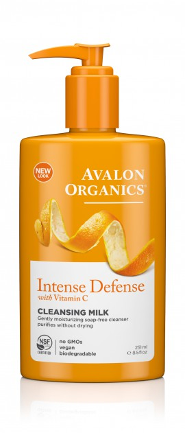 Avalon Organics Hydrating Cleansing Milk Intense Defence with Vitamin C 251ml