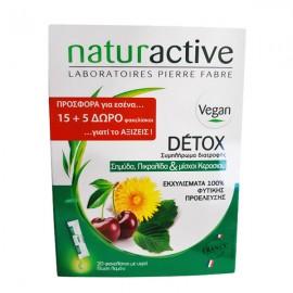 Naturactive Detox Set Συμπλήρωμα Διατροφής Με Σημύδα, Πικραλίδα & Μίσχοι Κερασιού Για Αποτοξίνωση του Οργανισμού 15+5 Δώρο
