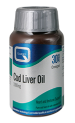 QUEST COD LIVER OIL 1000mg 30CAPS