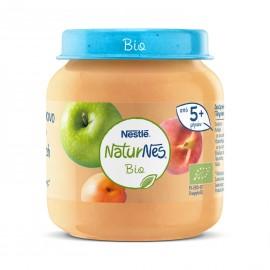 Nestle Naturnes Bio Βιολογική Παιδική Τροφή με Μήλο, Ροδάκινο και Βερίκοκο από 5 μηνών+ 125gr