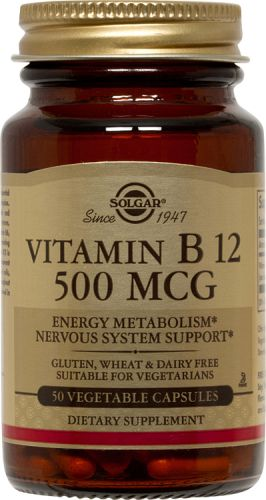 SOLGAR B12 500MCG 50CAP